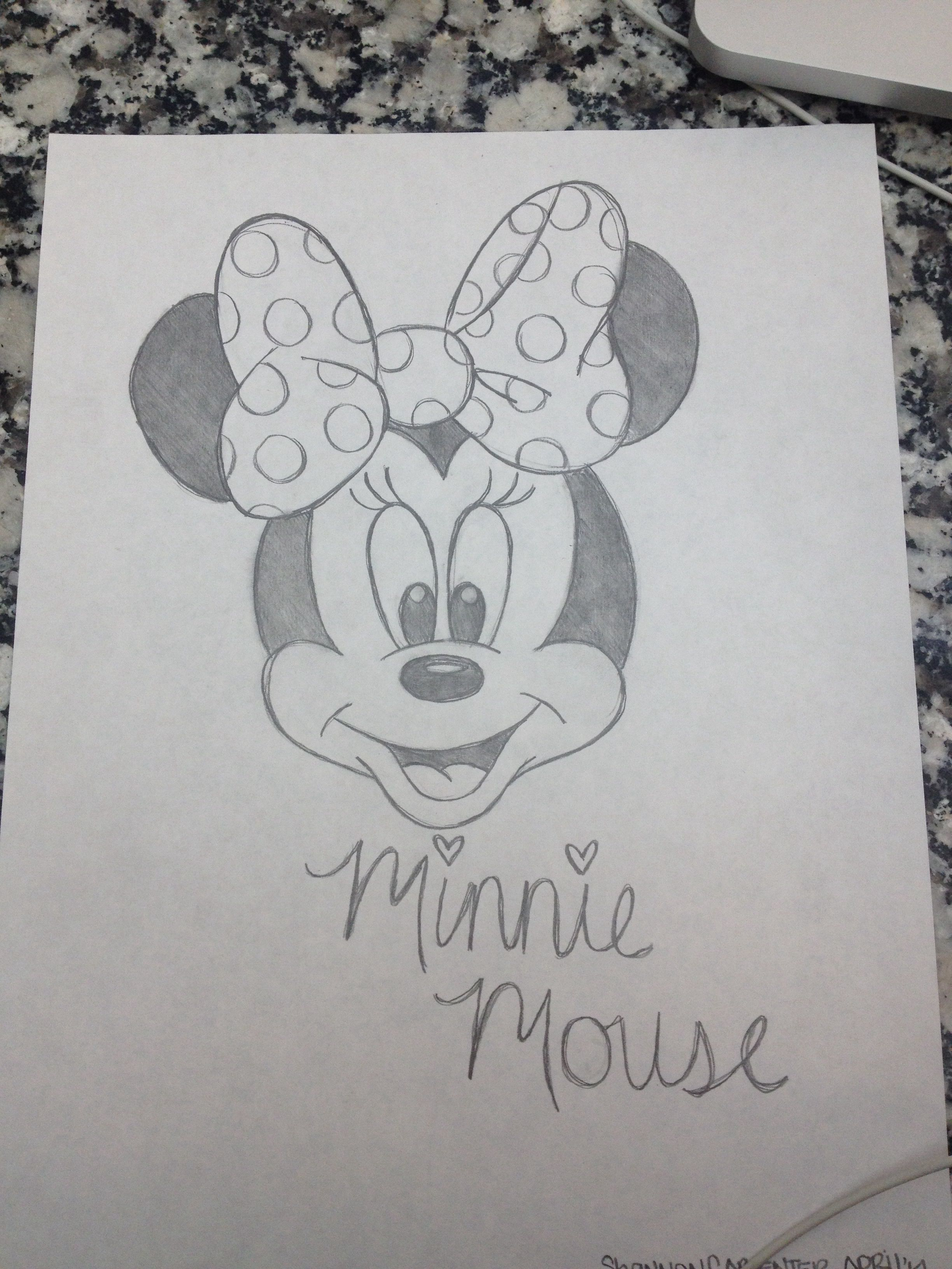 Minnie Mouse Sketch Draw In 2019 Drawings Art Drawings Cartoon