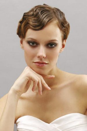Bridal Short Hair Finger Wave Definitely Like The Look Of This With A Fascinator
