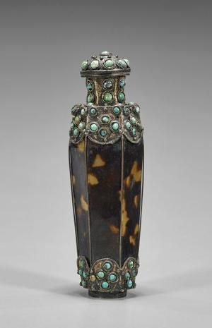 "Antique ""Tortoise Shell"" Snuff Bottle."