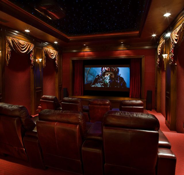 Modern Home Theatre Ideas: Game Rooms/Media Contemporary Media Room, Jauregui