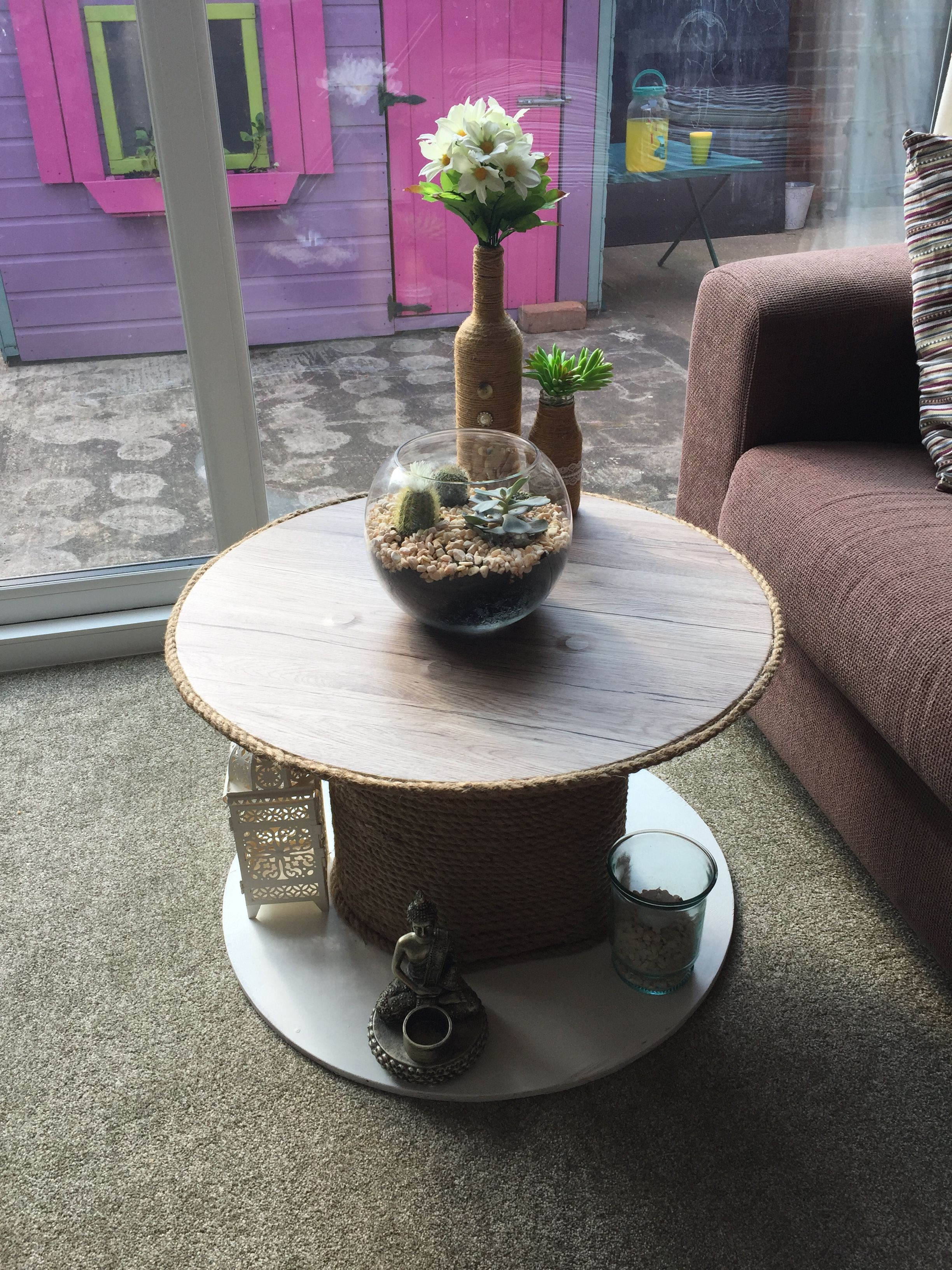Spool reel table I upcycled