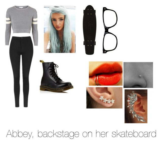 """""""Backstage (Abbey)"""" by abbeyturner ❤ liked on Polyvore featuring Topshop and Dr. Martens"""