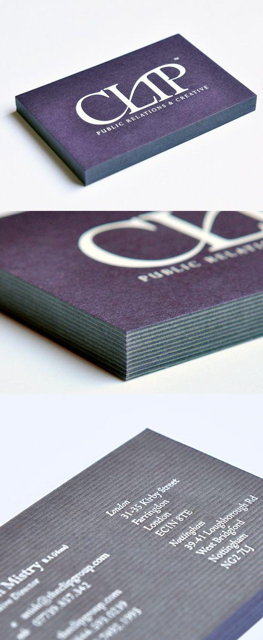 White Foil Both Sides Onto Gf Smith Colorplan 540gsm Duplex Amethyst Smoke Business Card Design Printing Business Card Design