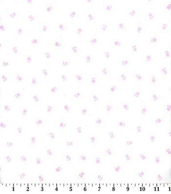 Snuggle Flannel Fabric Mini Pink Posy