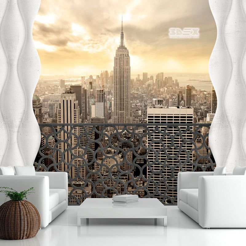 3d Wallpaper With City Images For Small Living Room Walls 30