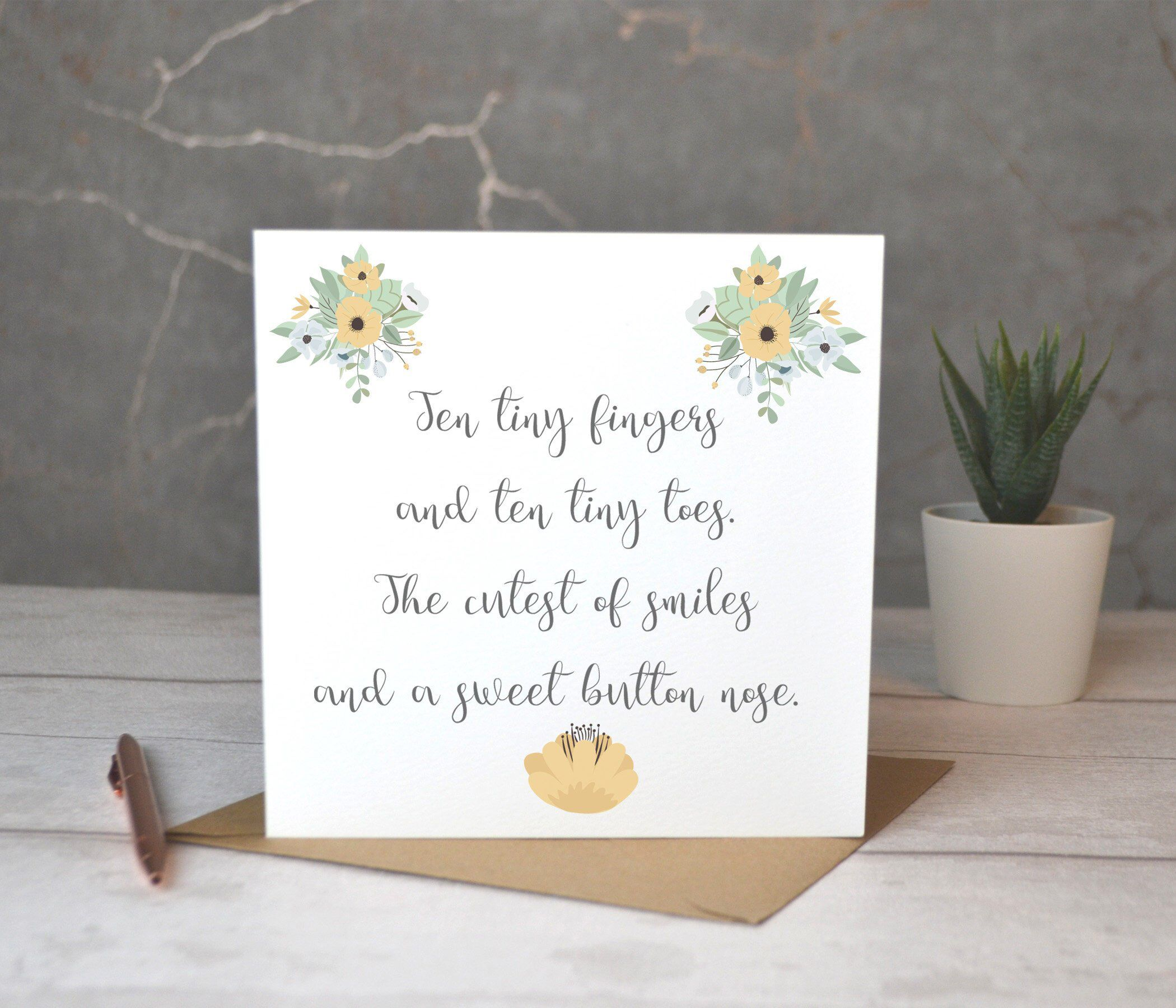 Excited To Share This Item From My Etsy Shop Special New Baby Card 10 Tiny Fingers And 10 Tiny Toes New Baby E New Baby Products New Baby Cards Baby Cards