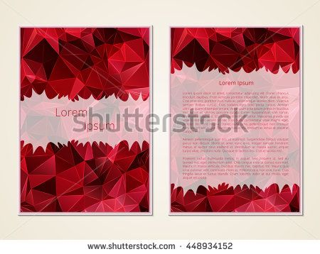 Business card. Template pages. Making invitations, leaflets, banners. Blank cover. Office Style. The layout of the poster. Vector illustration