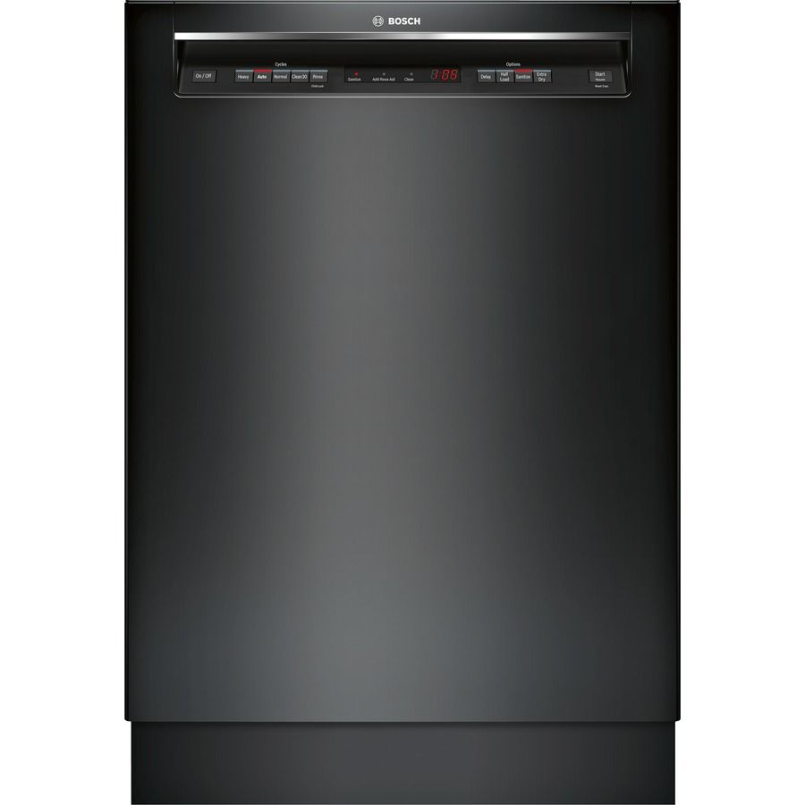 Bosch 300 44 Decibel Built In Dishwasher Black Common 24 Inch