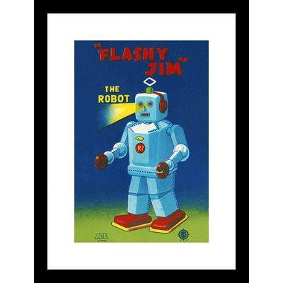 Buyenlarge Flashy Jim The Robot Framed Vintage Advertisement