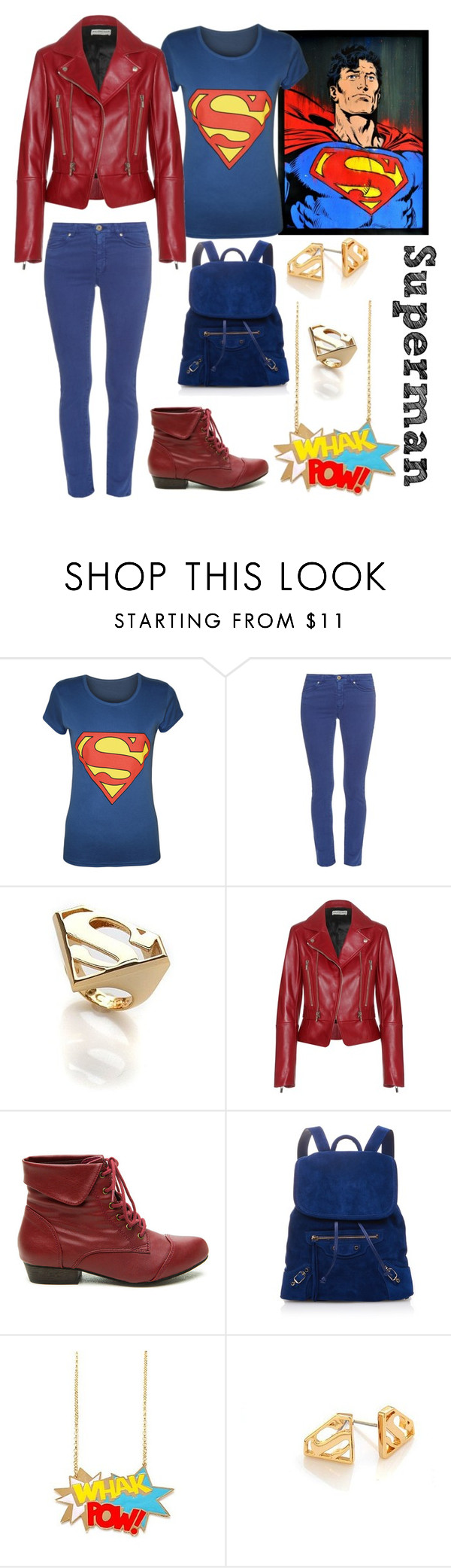"""""""Superman"""" by jhmb on Polyvore featuring WearAll, Weekend Max Mara, Noir and Balenciaga"""