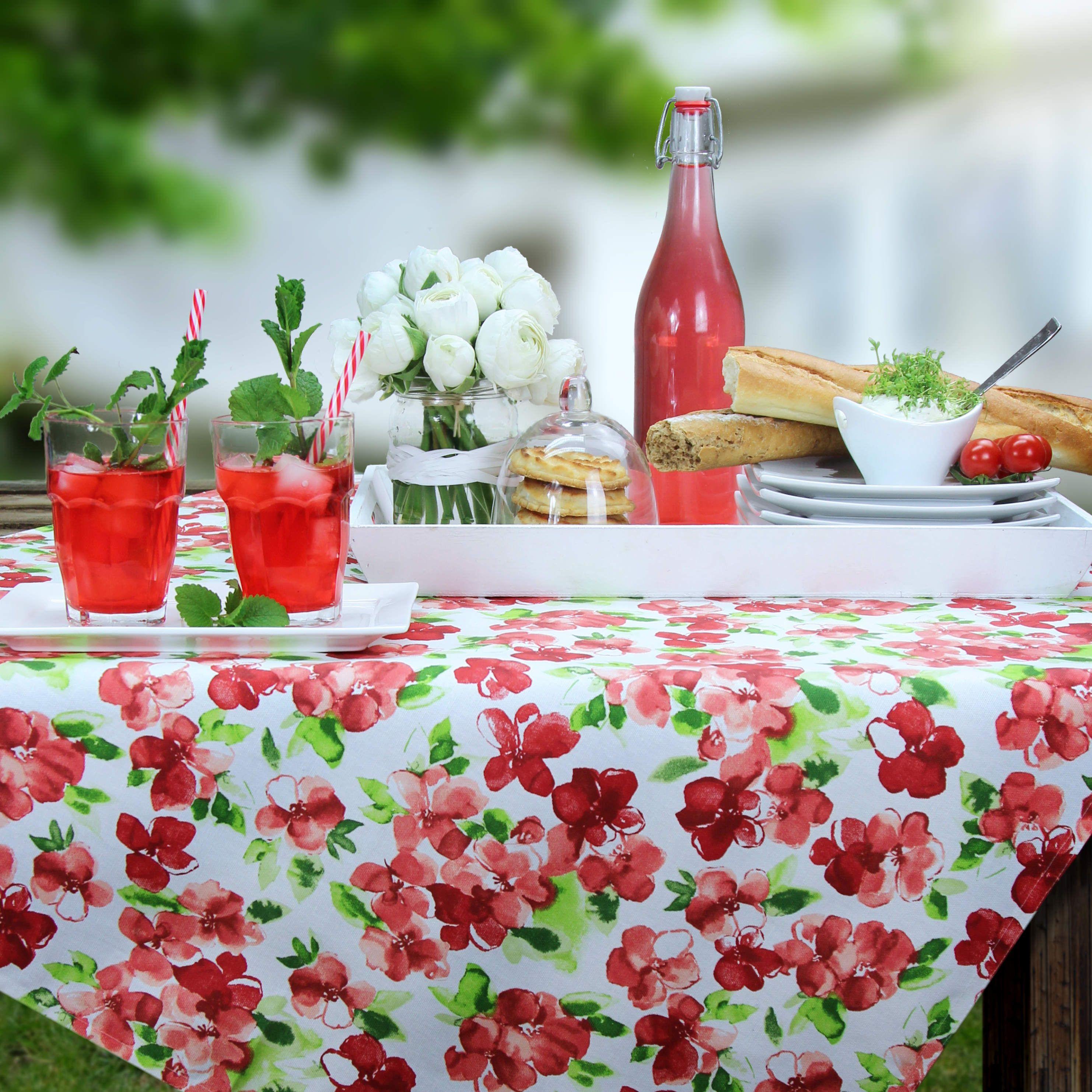 Gedeckter Tisch Im Garten: BISTRO SAVONA Abwaschbare Tischdecke Von Sander