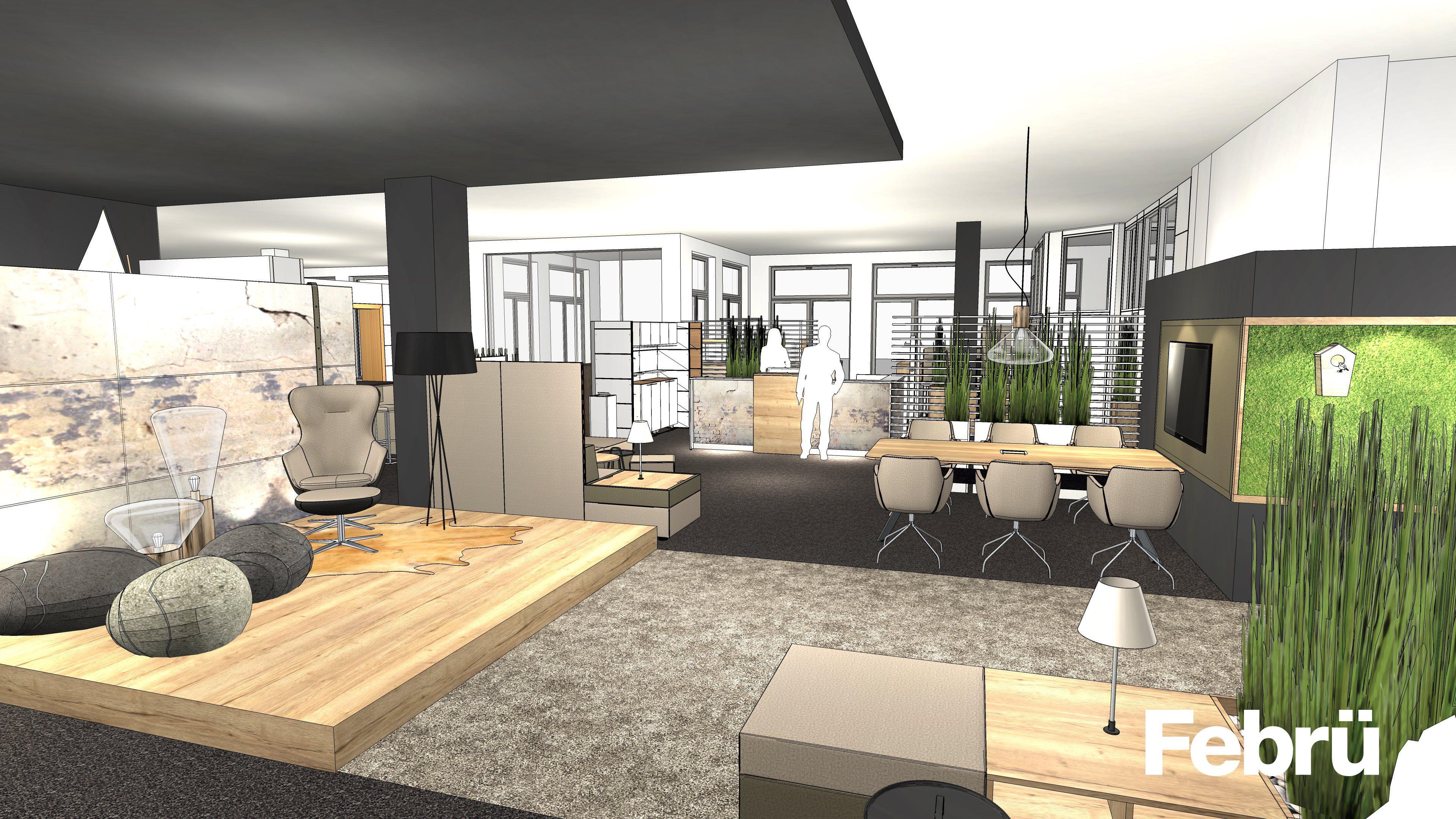open space b ro mit unterschiedlichen zonierungen zum entspannen besprechen und arbeiten die. Black Bedroom Furniture Sets. Home Design Ideas