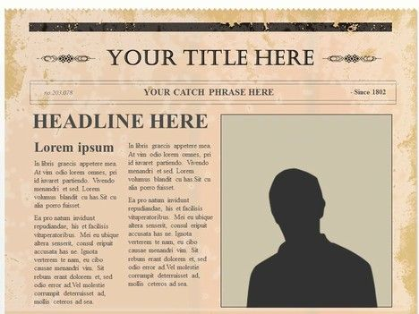 Editable Olden Times Newspaper Inside Page  Craft