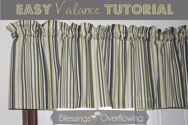 Easy valance tutorial valance tutorial valance and for Simple curtain patterns