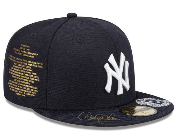Atmos Custom Derek Jeter New York Yankees Fitted Cap Size 7 5 8 ... d7fc6c784a64