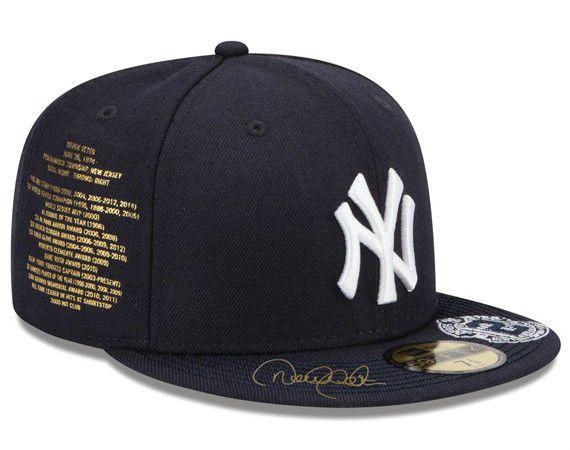 Atmos Custom Derek Jeter New York Yankees Fitted Cap Size 7 5 8 Yankee Fitted Hats For Men Derek Jeter