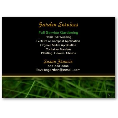 Gardener Business Card Zazzle Com Garden Services Organic Mulch Lawn Service