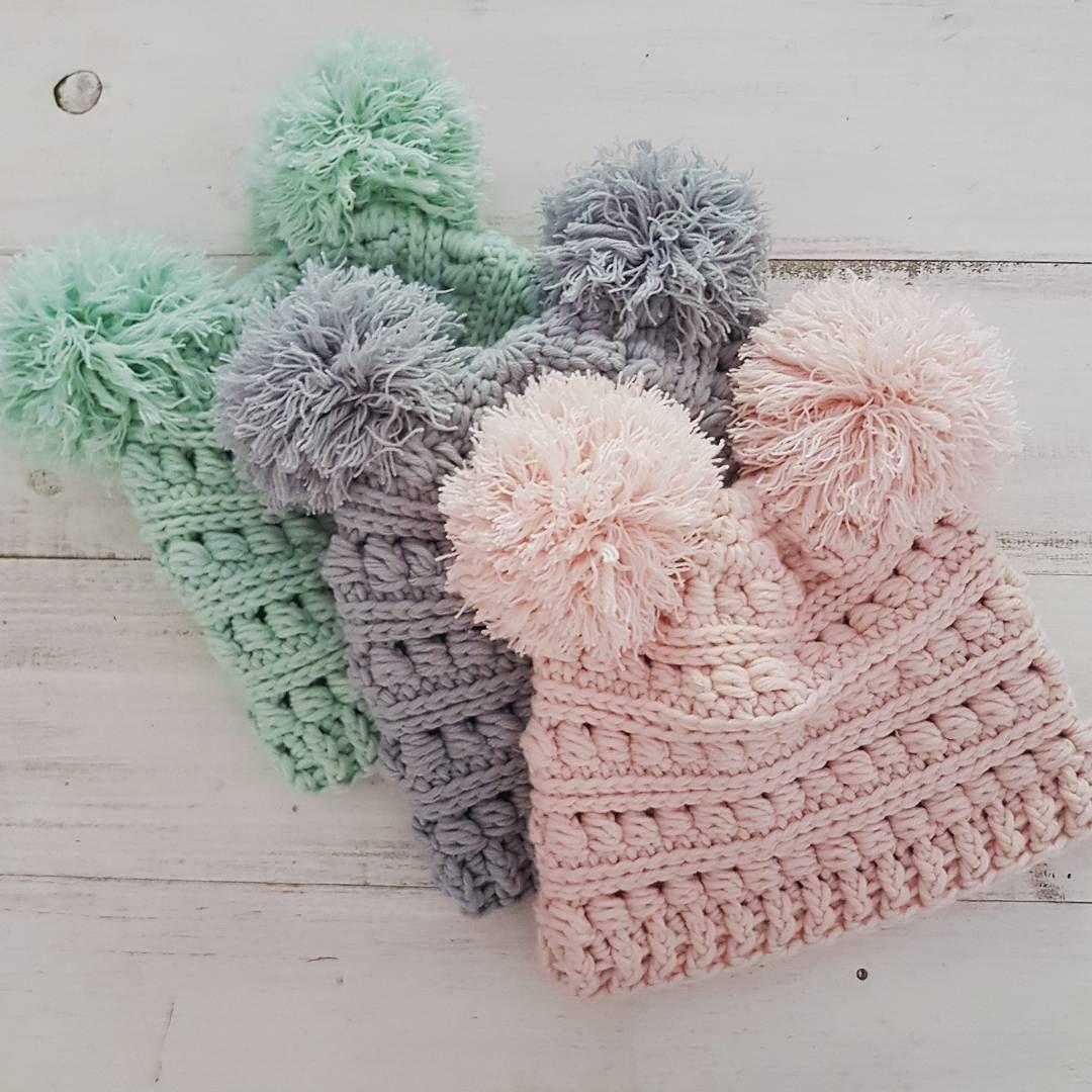 Double Pompom Beanie | Crochets | Pinterest | Gorros, Tejido y Gorro ...