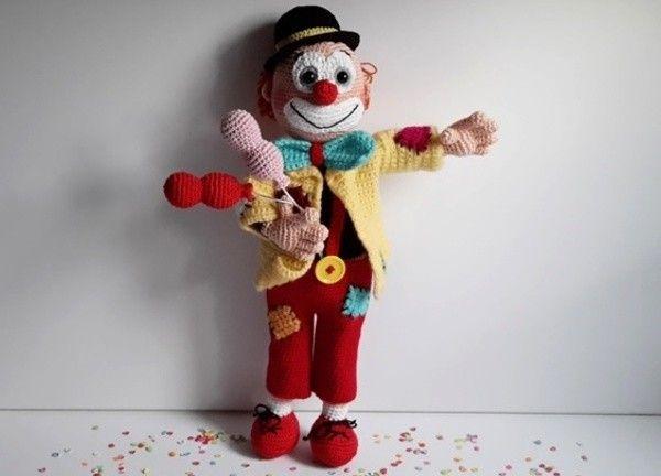Häkelanleitung Clown Cloude | Häkeln | Pinterest | Amigurumi