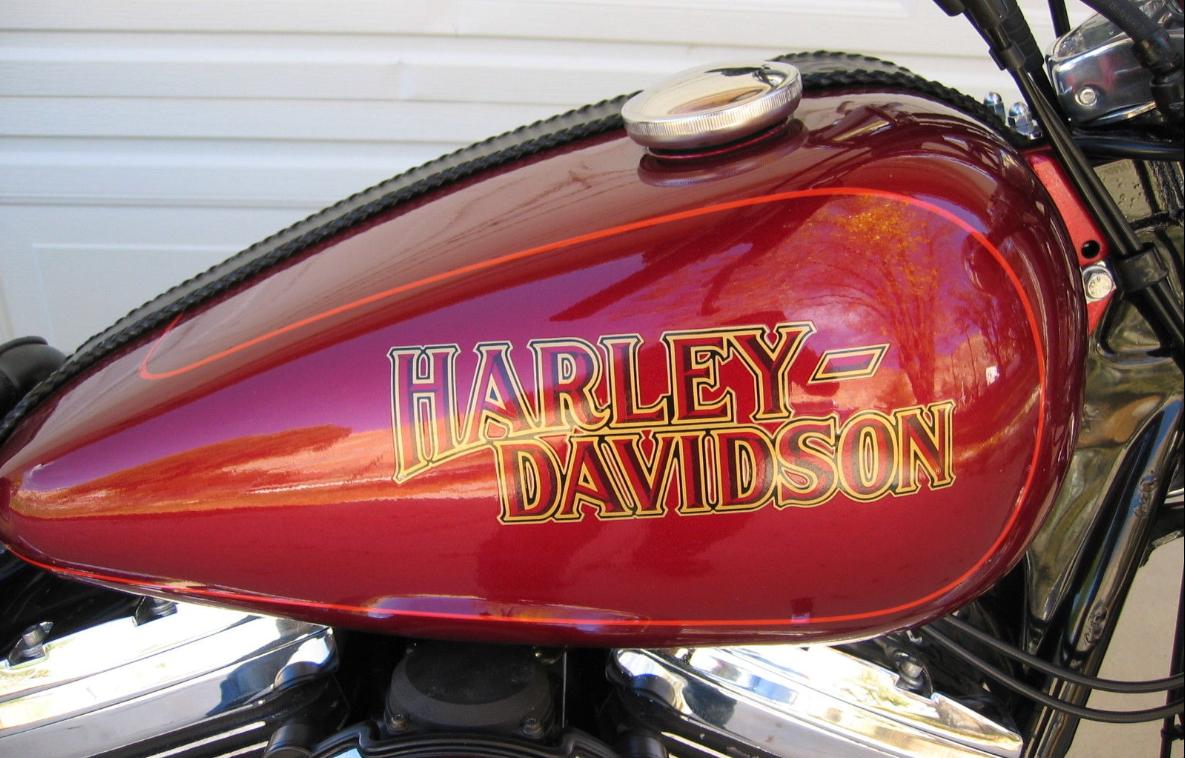 1987 Harley Davidson Fxr Gas Tank Decal Harley Davidson Harley Gas Tanks