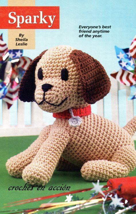 Patrón Amigurumi perrito Sparky en crochet   Amigurumis   Pinterest ...