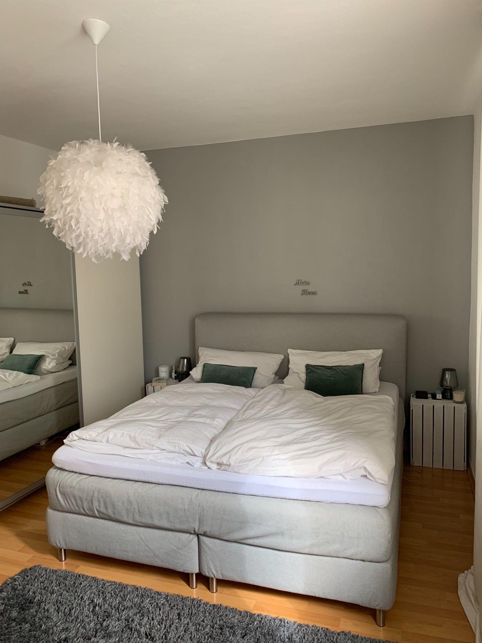 Dieses #Schlafzimmer in #Köln wurde relativ schlicht eingerichtet ...