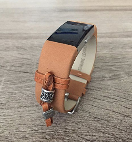 Amazon com: Brown Leather Band For Fitbit Charge 2 Heart