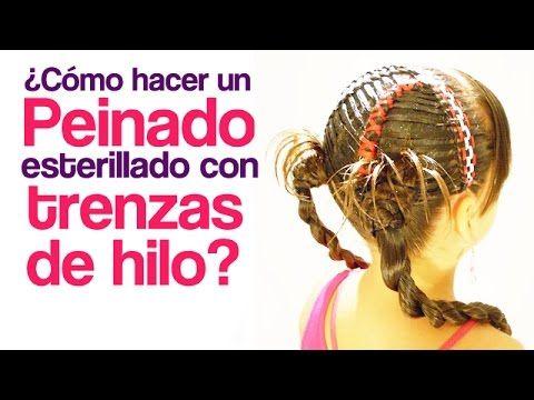 Peinados fáciles para Niña Mini-trenzas Clásicas Diagonales - peinados de nia faciles de hacer