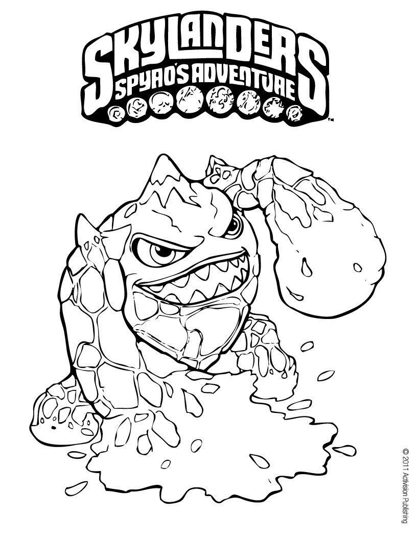 Eruptor Coloring Page From Skylanders Spyro S Adventure Coloring