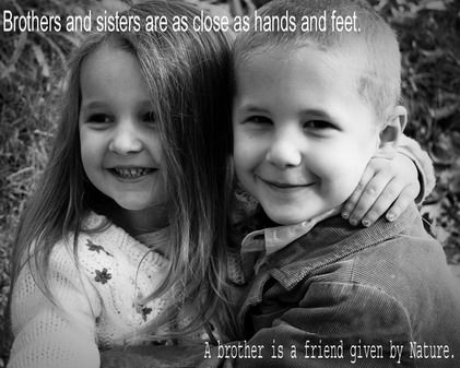 Cute Brother And Sister Quotes And Sayings Pictures For Home Wall