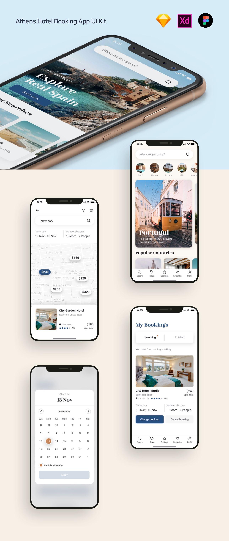 Pin on hotel booking app ui kit