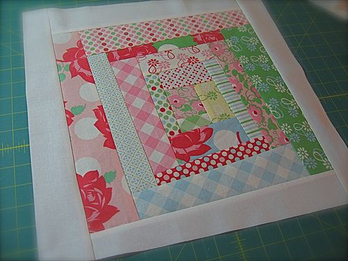 Quilt Dad's wonky log cabin with excellent instructions