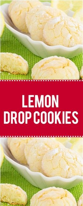 THESE LEMON DROP COOKIES HAVE A RATHER UNCONVENTIONAL TOPPING #cookiesalad