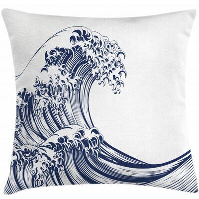 East Urban Home Indoor Outdoor 26 Throw Pillow Cover In 2021 Japanese Waves Wave Art Wave Drawing