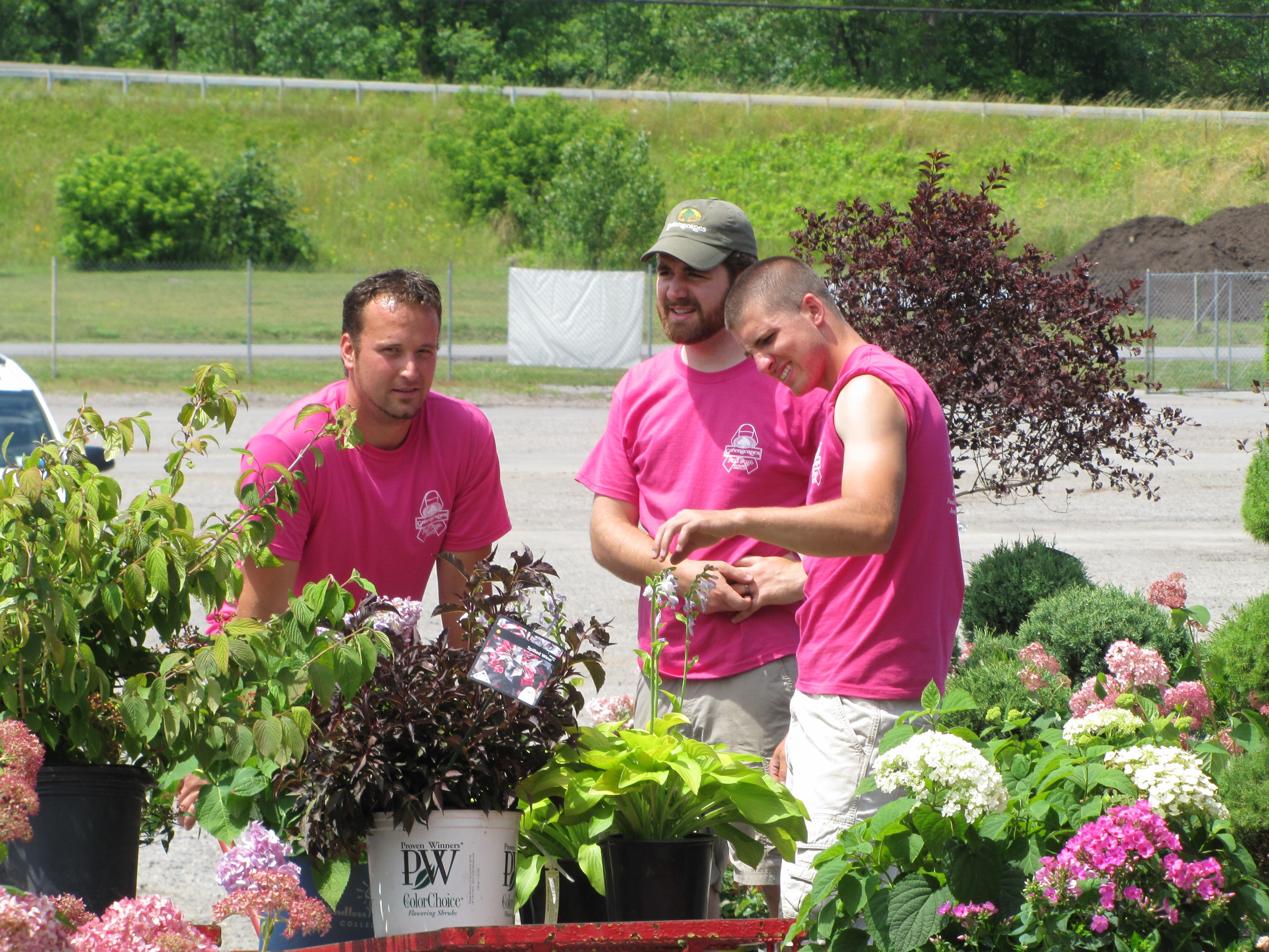 (Lu003eR) From Our Pink Days 2012 Event Landscape Crew Member Matt,