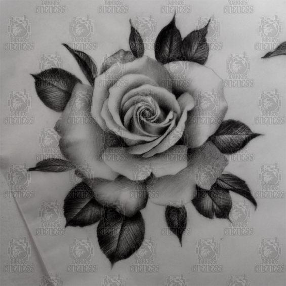 Flower Tattoo Black Grey Google Zoeken Tattoos
