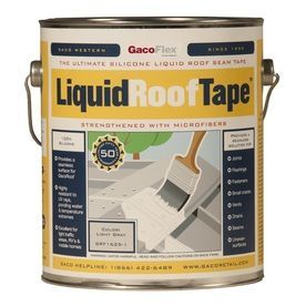 Gaco Liquidrooftape 4 Gallon Silicone Reflective Roof Coating 50 Year Roof Coating Liquid Roof