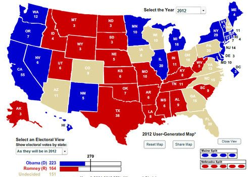 Key Swing States Will Likely Decide The Winner Of The - Interacive us electoral map