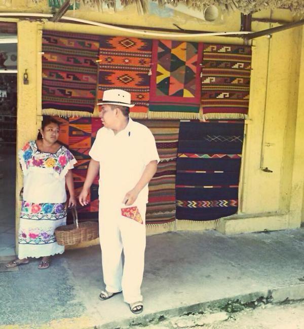 Chiapas textiles shop showing classic Chiapas textiles