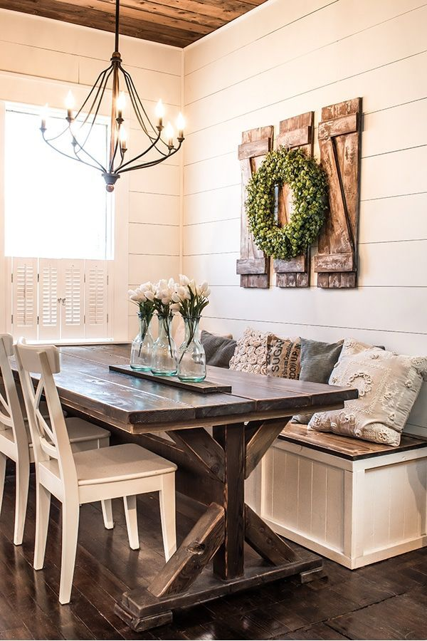 How to Build Simple and Inexpensive Rustic Shutters -   19 farmhouse decorations for kitchen table ideas