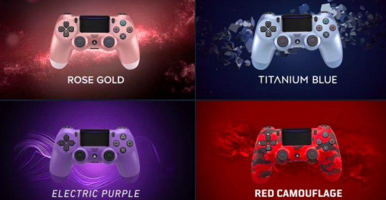 ذراع تحكم سوني Dualshock 4 متوفرة بأربعة ألوان جديدة Rose Gold Titanium Titanium Blue Purple