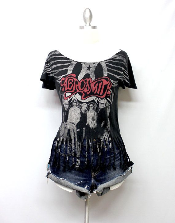 Aerosmith Customized Tour Tee 2009 with Fringes by OneLovePasadena, $39.99