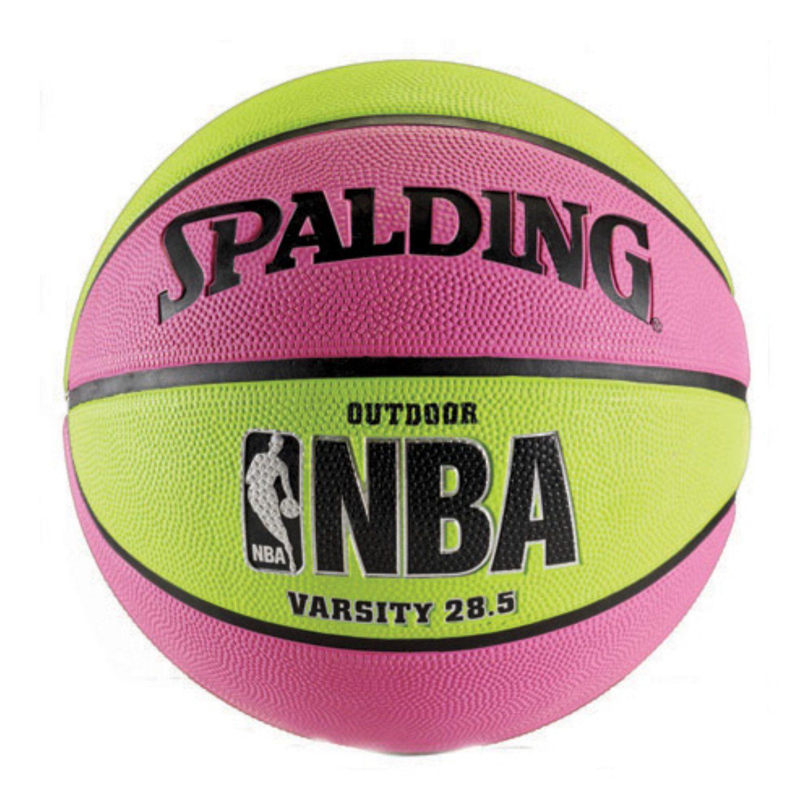 Spalding NBA Varsity Outdoor Basketball Pink Green in 2019 ... 883ac69b600b