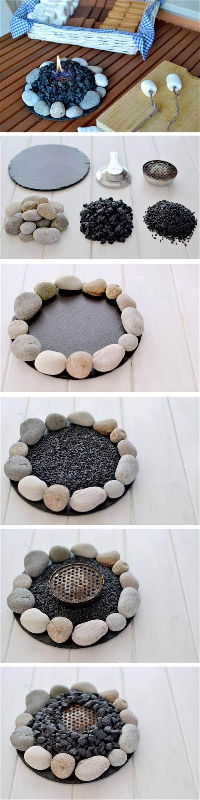 creative diy home decor ideas with pebbles and river rocks that