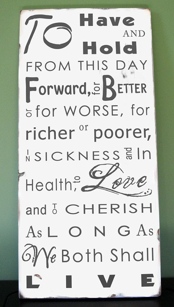 Wedding Vows As Wall Art What A Wonderful Way For To Remind Themselves Of Their Promises
