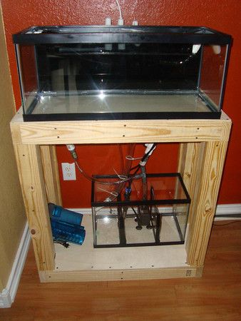 Diy 20 gallon long reef and stand fishes pinterest for Fish tank stand 10 gallon