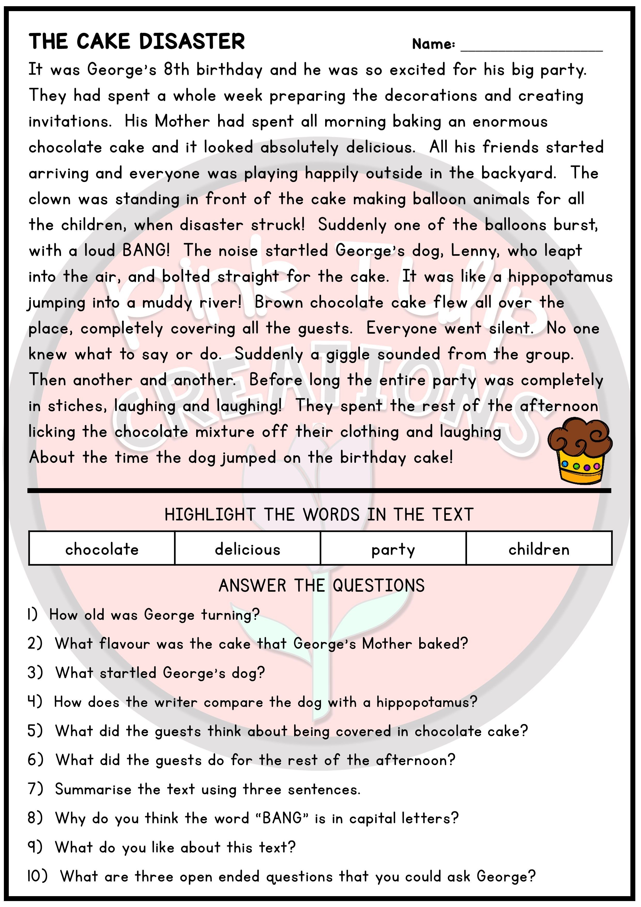 Best Picture For Reading Comprehension Elementary For Your