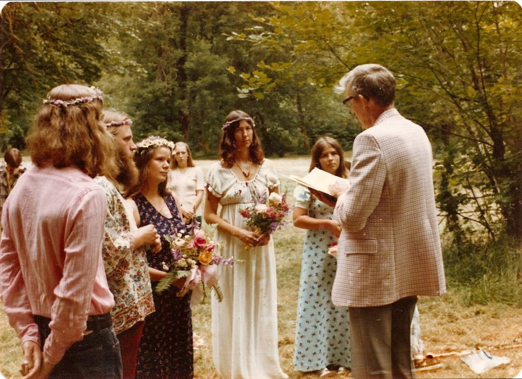 Hippie Wedding Ha Attended A Few Of These When We Lived In Washington Except The Officiant Was Super Hippy Who O Hippie Wedding Wedding Parents Wedding