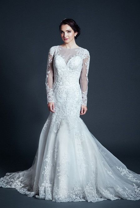 KCW1573 Lace Long Sleeve Wedding Dress by Kari Chang Eternal ...