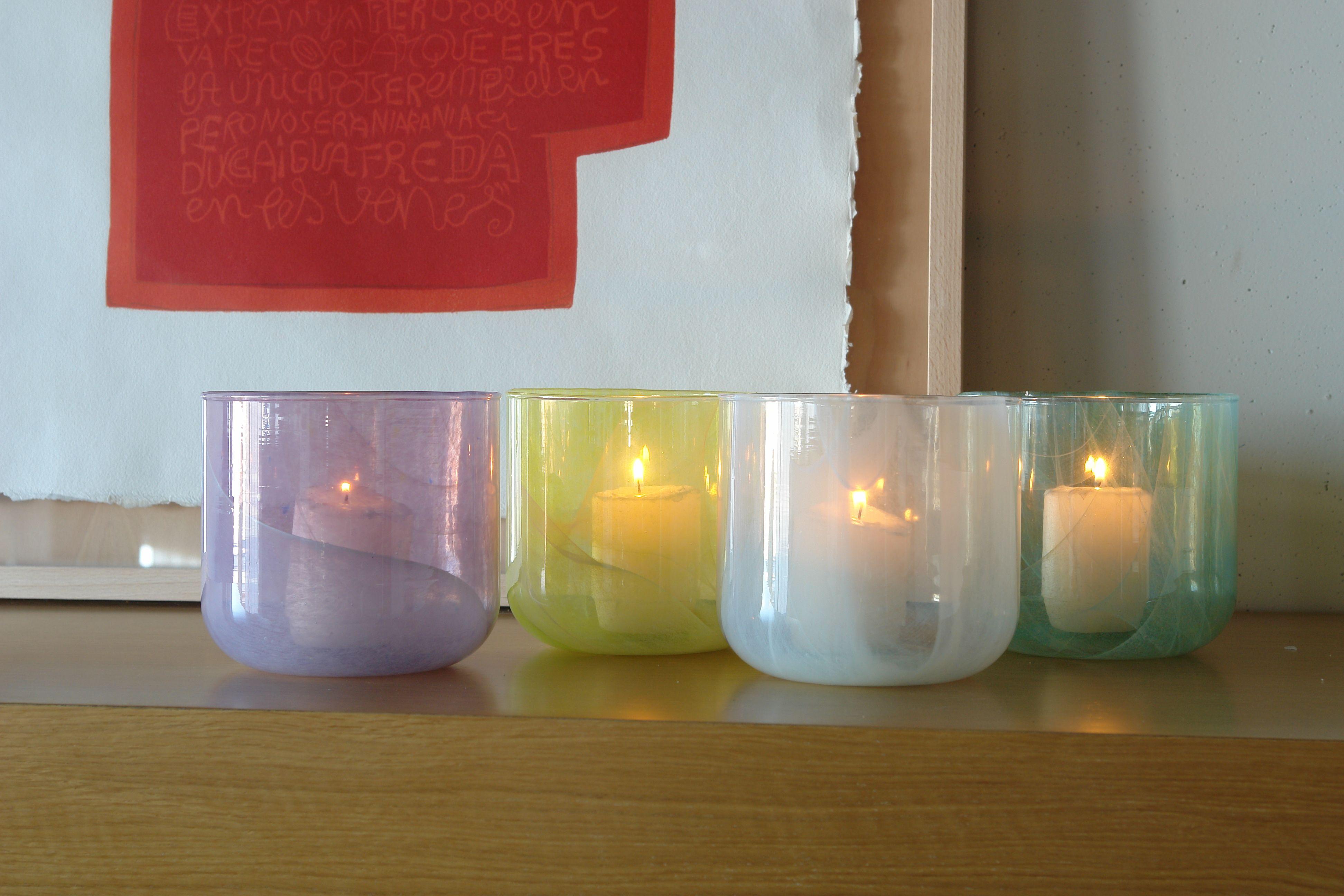 Cáramel candel holders